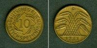 1931 Weimarer Republik DEUTSCHES REICH 10 Reichspfennig 1931 D (J.317)... 44,80 EUR  zzgl. 3,90 EUR Versand