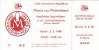 1990 Forum Außenhandelsgesellschaft, Sonstige DDR: HOTEL INTERNATIONAL... 14,80 EUR  zzgl. 3,90 EUR Versand