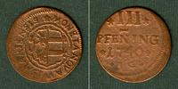 1740 Wismar Mecklenburg Stadt Wismar 3 Pfenning 1740 IG  s-ss/s  selte... 17,80 EUR  zzgl. 3,90 EUR Versand