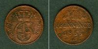 1855 Mecklenburg Mecklenburg Strelitz 3 Pfennige 1855 A  ss ss  7,80 EUR  zzgl. 3,90 EUR Versand