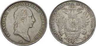 Scudo 1825 M - Mailand KAISERREICH ÖSTERREICH Franz I., 1804-1835. Fast Vorzüglich-Vorzüglich