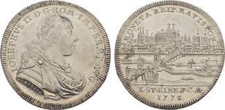 Konv.-Taler 1775. REGENSBURG  Fast Stempelglanz.
