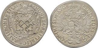 Reichstaler 1696. REGENSBURG  Felder etwas...
