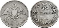 20 Kopeken 1826, St. Petersburg. RUSSLAND Nikolaus I., 1825-1855. Sehr ... 150,00 EUR  zzgl. 4,50 EUR Versand