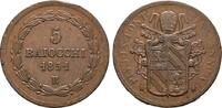 Ku.-5 Baiocchi ANNO VI  1851, Rom. ITALIEN Pius IX., 1846-1878. Fast vo... 55,00 EUR  zzgl. 4,50 EUR Versand