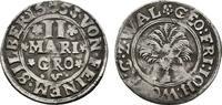 2 Mariengroschen 1653, Niederwildungen. WALDECK Georg Friedrich, Johann... 70,00 EUR  zzgl. 4,50 EUR Versand