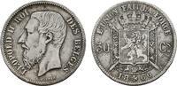 50 Centimes 1866. BELGIEN Leopold II., 1865-1909. Sehr schön-vorzüglich  45,00 EUR  zzgl. 4,50 EUR Versand