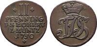 Ku.-2 Pfennig 1750. SACHSEN Friedrich III. von Gotha, 1741-1755, als Ad... 25,00 EUR  zzgl. 4,50 EUR Versand
