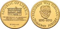 25 Dollars 1970. LIBERIA Republik. Fast Stempelglanz  1090,00 EUR kostenloser Versand