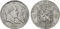 2 Francs 1880. BELGIEN Leopold II., 1865-1909. Sehr schön-fast vorzügli... 150,00 EUR  zzgl. 4,50 EUR Versand