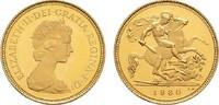 1/2 Sovereign 1980 GROSSBRITANNIEN Elizabeth II. seit 1952. Polierte Pl... 195,00 EUR  zzgl. 4,50 EUR Versand
