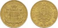 5 Mark 1877 J. Hamburg Freie und Hansestadt. Sehr schön +  590,00 EUR kostenloser Versand