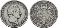 5 Lire 1827, P - Genua (Anker). ITALIEN Karl Felix, 1821-1831. Sehr sch... 75,00 EUR  zzgl. 4,50 EUR Versand