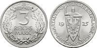 3 Reichsmark 1925, A. WEIMARER REPUBLIK  Fast Stempelglanz  62,00 EUR  zzgl. 4,50 EUR Versand