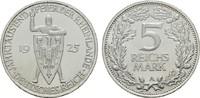 5 Reichsmark 1925, A. WEIMARER REPUBLIK  Stempelglanz, fein  180,00 EUR  zzgl. 4,50 EUR Versand