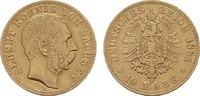 10 Mark 1881 E. Sachsen Albert, 1873-1902. Sehr schön.  300,00 EUR  zzgl. 4,50 EUR Versand