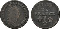 Liard 1655 B-Rouen. FRANKREICH Louis XIV, 1643-1715. Schön-sehr schön.  25,00 EUR  zzgl. 4,50 EUR Versand
