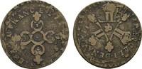 Liard überprägt  FRANKREICH Louis XIV, 1643-1715. Fast Sehr schön.  12,00 EUR  zzgl. 4,50 EUR Versand
