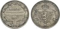 2 Kroner 1906. NORWEGEN Haakon VII., 1905-1958. Leichte feine Patina. S... 220,00 EUR  zzgl. 4,50 EUR Versand