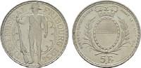 5 Franken 1934. SCHWEIZ Stadt. Fast Stempelglanz.  100,00 EUR  zzgl. 4,50 EUR Versand