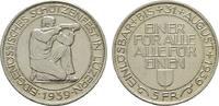 5 Franken 1939. SCHWEIZ Stadt. Fast Stempelglanz.  45,00 EUR  zzgl. 4,50 EUR Versand