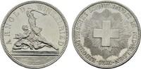 5 Franken 1861. SCHWEIZ  Fast vorzüglich.  160,00 EUR  zzgl. 4,50 EUR Versand