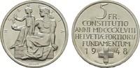 5 Franken 1948. SCHWEIZ  Stempelglanz.  12,00 EUR  zzgl. 4,50 EUR Versand