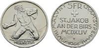 5 Franken 1944, St.Jakob. SCHWEIZ  Fast Stempelglanz/Stempelglanz.  35,00 EUR  zzgl. 4,50 EUR Versand
