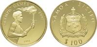 100 Dollars 1991. SAMOA ISLANDS  Polierte Platte.  335,00 EUR  zzgl. 4,50 EUR Versand