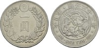 1 Yen Meiji  22 (1889). Osaka. JAPAN Mutsuhito, 1867-1912. Vorzüglich  150,00 EUR  zzgl. 4,50 EUR Versand