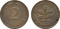 2 Pfennig 1959, G. BUNDESREPUBLIK DEUTSCHLAND  Bankfrisch  8,00 EUR  zzgl. 4,50 EUR Versand