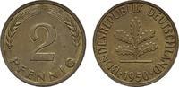 2 Pfennig 1950, J. BUNDESREPUBLIK DEUTSCHLAND  Bankfrisch  8,00 EUR  zzgl. 4,50 EUR Versand