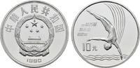 10 Yuan 1990. CHINA  Polierte Platte, gekapselt.  32,00 EUR  zzgl. 4,50 EUR Versand