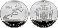25 Dollars 1984. JAMAIKA Elizabeth II. seit 1952. Polierte Platte  95,00 EUR  zzgl. 4,50 EUR Versand