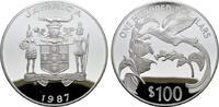 100 Dollars 1987. JAMAIKA Elizabeth II. seit 1952. Polierte Platte  150,00 EUR  zzgl. 4,50 EUR Versand