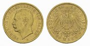 Baden. 20 Mark G, Friedrich II.,1907-1918.