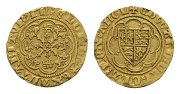 Grossbritannien. 1/4 Noble, London (Lilie im Zentrum) Edward III., 1327-1377.