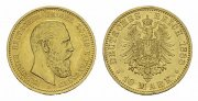 Preussen. 10 Mark, 1888 A. Vorzglich +. F...
