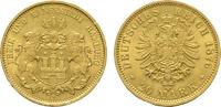 20 Mark 1876, J. Hamburg Freie und Hansestadt. Vorzüglich-stempelglanz.  590,00 EUR kostenloser Versand