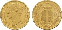 20 Lire 1882, Rom. ITALIEN Umberto I., 1878-1900. Fast Stempelglanz.  320,00 EUR  zzgl. 4,50 EUR Versand
