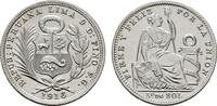 1/5 Sol 1916, FG. PERU Republik seit 1822. Stempelglanz.  50,00 EUR  zzgl. 4,50 EUR Versand