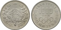1.000 Yen 1964. JAPAN Hirohito, 1926-1989. Stempelglanz.  35,00 EUR  zzgl. 4,50 EUR Versand