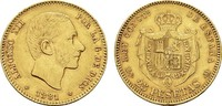 25 Pesetas 1881/81, DE-M Madrid. SPANIEN Alfonso XII., 1874-1885. Rands... 450,00 EUR  zzgl. 4,50 EUR Versand