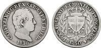 50 Centesimi 1830, Turin. ITALIEN Karl Felix, 1821-1831. Sehr schön.  200,00 EUR  zzgl. 4,50 EUR Versand