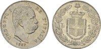 Lira 1887, Mailand. ITALIEN Umberto I., 1878-1900. Fast Stempelglanz-St... 180,00 EUR  zzgl. 4,50 EUR Versand