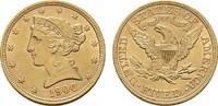 5 Dollar 1900, Philadelphia. USA  Vorzüglich - Stempelglanz  490,00 EUR  zzgl. 4,50 EUR Versand
