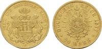 20 Mark 1877, J. Hamburg Freie und Hansestadt. Sehr schön - Vorzüglich  375,00 EUR  zzgl. 4,50 EUR Versand
