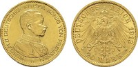 20 Mark 1913, A. Preussen Wilhelm II., 1888-1918. Vorzüglich +.  385,00 EUR  zzgl. 4,50 EUR Versand