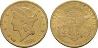 20 Dollars 1884, CC-Carson City. USA  Prägebedingte kleine Unebenheiten... 4300,00 EUR kostenloser Versand