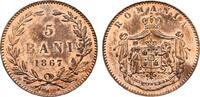 5 Bani 1867, Heaton. RUMÄNIEN Karl I., 1866-1914. Feinste Erhaltung. PL... 200,00 EUR  zzgl. 4,50 EUR Versand
